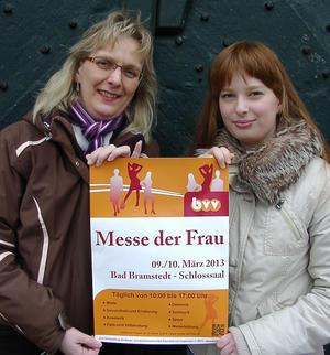 Messe der Frau 2013, Projektleiterin Birgit Lüth-Peters und ihre Tochter
