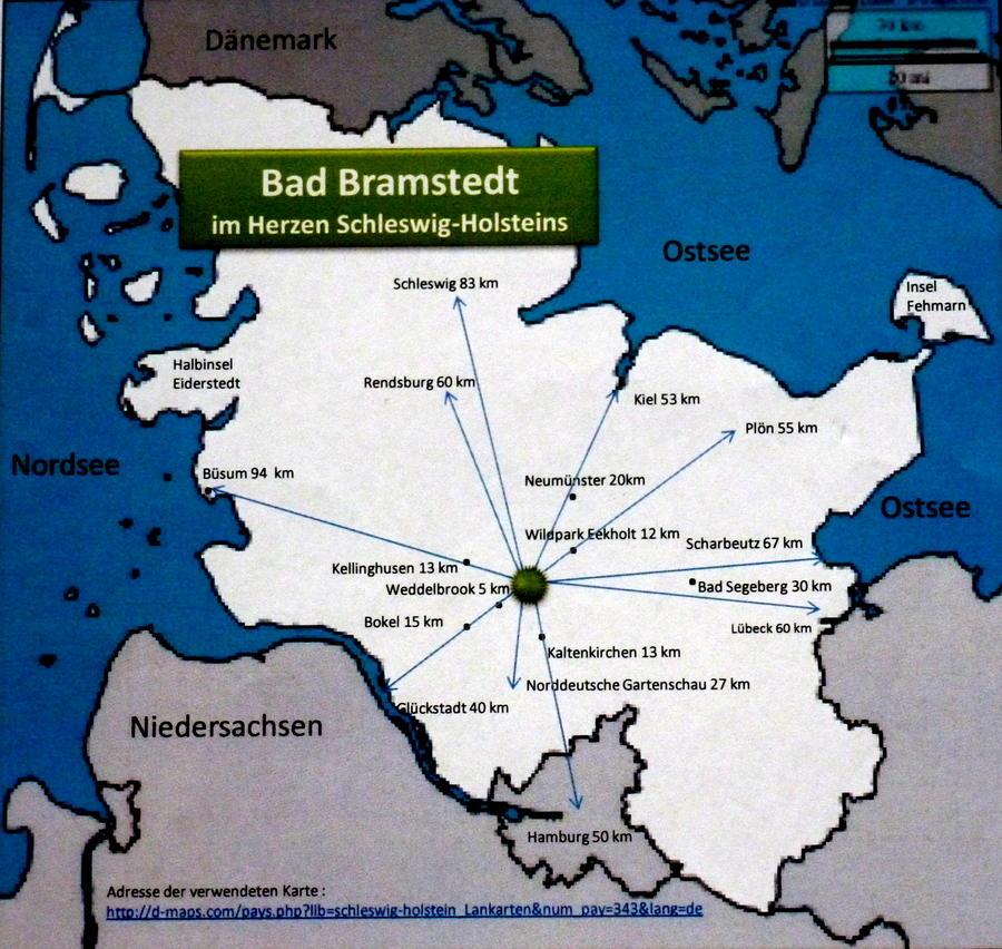 Ausflugsziele von Bad Bramstedt - in grafischer Form