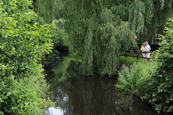 Paar am grünen Ufer